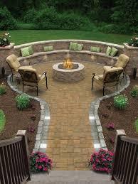 stone seating to garden